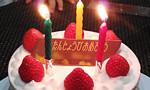 アレルギー対策の乳・卵・小麦不使用ケーキでお誕生日