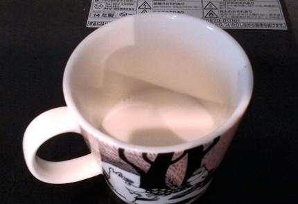 温めた普通のミルク