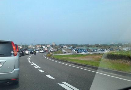 駐車場までの道のりも大渋滞