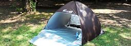 公園や広場での遊び、バーベキューなどの紫外線対策に最適なワンタッチテント!