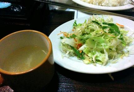 ライスセットのサラダとスープ