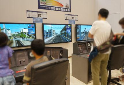 「電車でgo」のように、リアルな走行画面