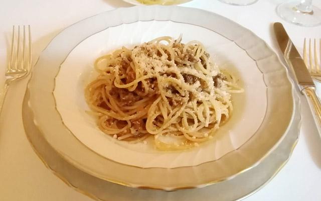 相州牛ラグーのスパゲッティーニ