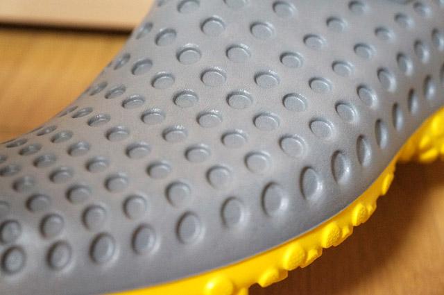 靴の表面を拡大した写真