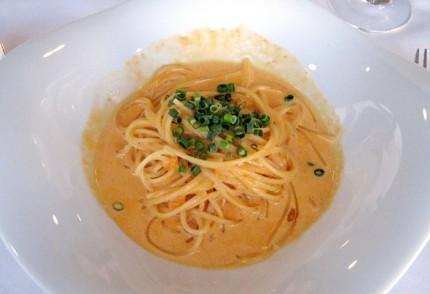 ウニクリームのスパゲッティーニ