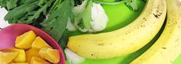 マンゴー&バナナ&春菊&青梗菜