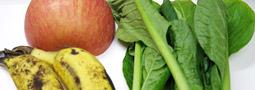 りんごとバナナと小松菜のグリーンスムージー