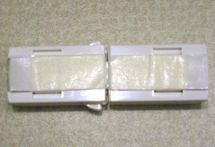 裏に両面テープを張り付け