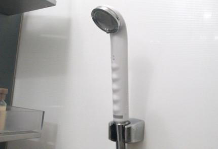 シャワーヘッドを取り付けたところ