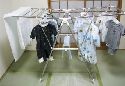 洗濯物を干した状態